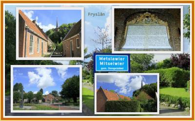 Metslawier, collage van dorpsgezichten (© Jan Dijkstra, Houten)