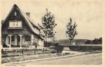 Meulunteren, 't Hek, ansichtkaart uit ca. 1920