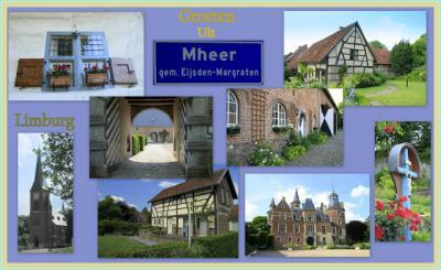 Mheer, collage van dorpsgezichten (© Jan Dijkstra, Houten)