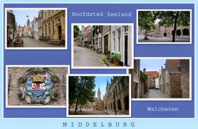 Middelburg, collage van stadsgezichten (© Jan Dijkstra, Houten)