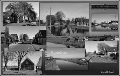 Middelburg is een stad in Zeeland én een buurtschap in de provincie Zuid-Holland, in deels gemeente Bodegraven-Reeuwijk, deels gemeente Alphen aan den Rijn, deels gemeente Waddinxveen. Het was een zelfstandige gemeente t/m 1811. ( © Jan Dijkstra, Houten)