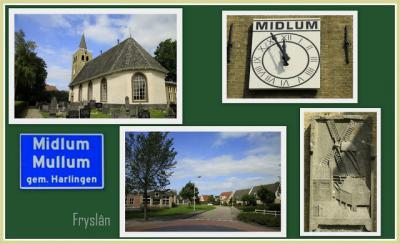 Midlum, collage van dorpsgezichten (© Jan Dijkstra, Houten)