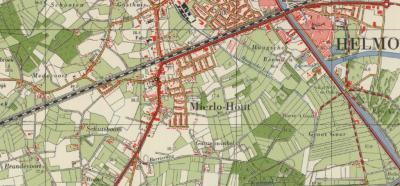 Het dorp Mierlo-Hout (voorheen Hout, Het Hout of 't Hout) komt pas sinds de jaren vijftig met die naam op de kaarten voor. ZW ervan ligt op deze kaart uit de jaren zestig nog het Mierlose buurtschapje Brandevoort, nu een grote Vinex-wijk van Helmond.