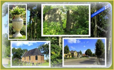 Mildam, collage van dorpsgezichten (© Jan Dijkstra, Houten)