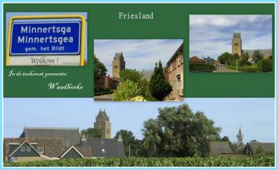 Minnertsga, collage van dorpsgezichten (© Jan Dijkstra, Houten)
