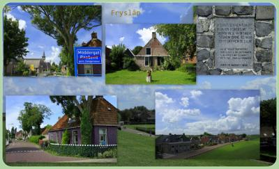 Moddergat, collage van dorpsgezichten (© Jan Dijkstra, Houten)