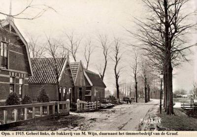 Fotokaart van de buurtschap Moerbeek anno ca. 1915