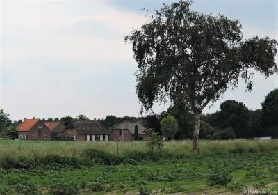 De woonboerderijen op Broekstraat 6 en 8 in buurtschap Moerenburg anno 2014, dus nog vóór de recente restauraties en verbouwingen.
