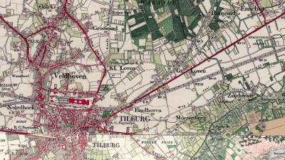 Buurtschap Moerenburg op een kaart uit ca. 1900. (© www.kadaster.nl)