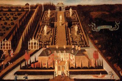 Buurtschap Moerenburg, vroeg-18e-eeuws anoniem schilderij van 't Huys Moerenburgh. Voor nadere toelichting zie het hoofdstuk Beeld.