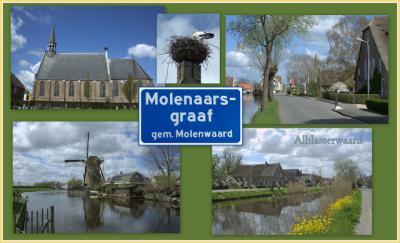 Molenaarsgraaf, collage van dorpsgezichten (© Jan Dijkstra, Houten)