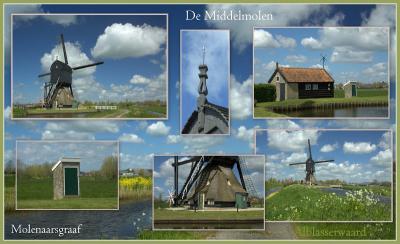De Middelmolen in Molenaarsgraaf dateert uit de 17e eeuw en is nog altijd maalvaardig!