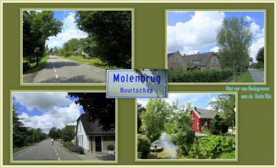 Molenbrug, collage van buurtschapsgezichten (© Jan Dijkstra, Houten)