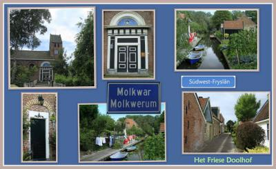 Molkwerum, collage van dorpsgezichten (© Jan Dijkstra, Houten)