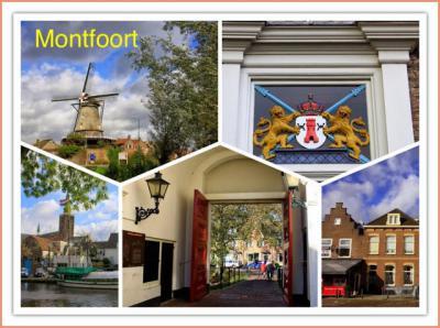 Montfoort, collage stadsgezichten (© Jan Dijkstra, Houten)