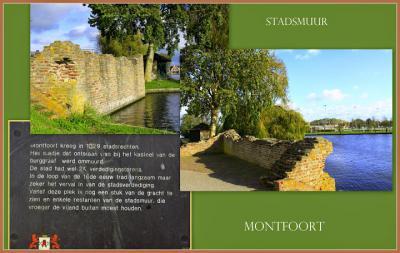 Montfoort, restanten van de oude stadsmuur (© Jan Dijkstra, Houten)