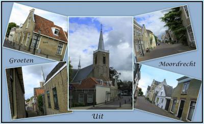 Moordrecht, collage van dorpsgezichten anno 2015 (© Jan Dijkstra, Houten)