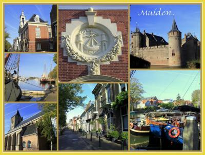 Muiden, collage van stadsgezichten (© Jan Dijkstra, Houten)