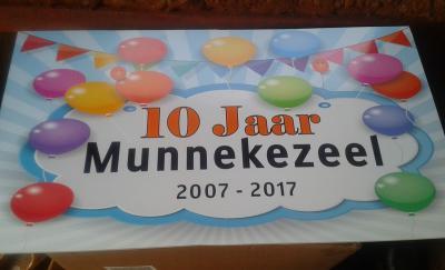 Buurtschap Munnekezeel is opgericht in 2007 en heeft daarom in 2017 het 10-jarig bestaan gevierd
