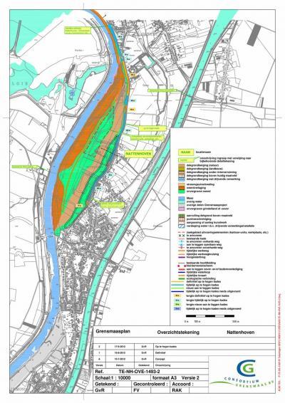 In het kader van hoogwaterbescherming en ontwikkeling van natuur en recreatie wordt de Grensmaas van 2008 t/m 2027 grootschalig heringericht. Van 2018 t/m 2020 is dat bij Nattenhoven gebeurd. Voor nadere informatie zie het hoofdstuk Landschap etc.