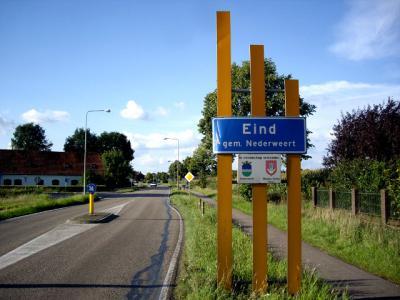 Voorheen was het gewoon 'Eind'. En in de volksmond wordt het dorp nog altijd kortweg zo genoemd. (© H.W. Fluks)