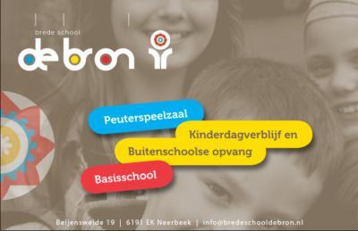 Brede School De Bron in Neerbeek is een basisschool, kinderdagverblijf, peuterspeelzaal en BSO onder een dak. Dat is wel zo handig.