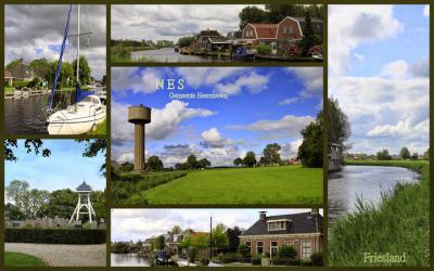 Nes, collage van dorpsgezichten (© Jan Dijkstra, Houten)