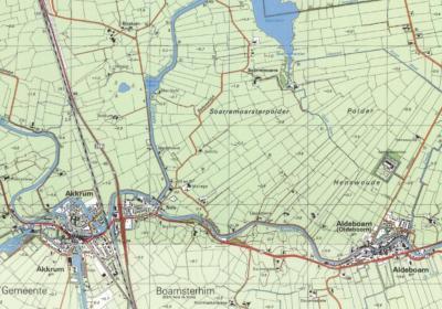 De nederzetting Nes zoals die tot ca. 2000 heeft bestaan, omvatte als 'kern' slechts enkele handenvol huizen O van de splitsing van de waterlopen Zijlroede en Boorn, met nog enkele handenvol huizen in het buitengebied. Op deze kaart is dat goed te zien.