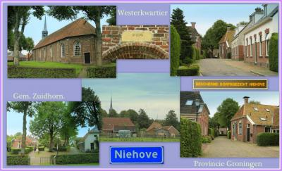 Niehove, collage van dorpsgezichten (© Jan Dijkstra, Houten)