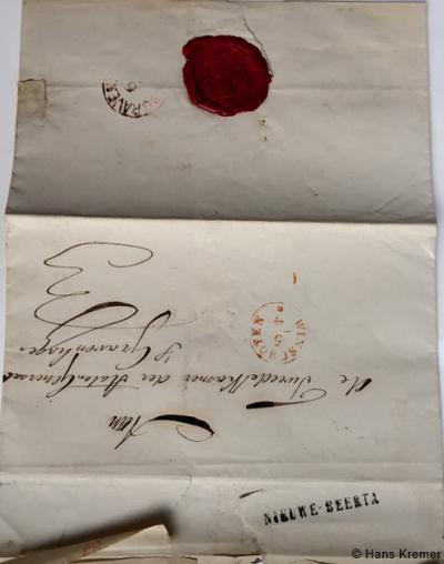 In 1855 of kort daarvoor is de naam van het hulppostkantoor gewijzigd van Nieuwe Beerta naar Nieuw-Beerta. Toch komt in 1856 nog een poststuk voor met een stempel Nieuwe-Beerta (terwijl na een spellingswijziging de stempels vaak direct werden aangepast).