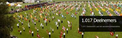 Het Wereldrecord Vendelen in 2011 in Nieuw-Dijk is gevestigd met 1.017 deelnemers. Dat zal een imposant gezicht zijn geweest...