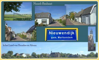 Nieuwendijk, collage van dorpsgezichten (© Jan Dijkstra, Houten)