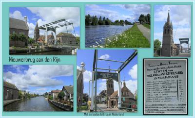Nieuwerbrug aan den Rijn, collage van dorpsgezichten (© Jan Dijkstra, Houten)