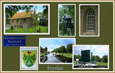 Nieuweschoot, collage van dorpsgezichten (© Jan Dijkstra, Houten)