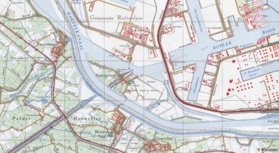 Jaren zestig: Blankenburg is al verdwenen, Nieuwesluis is door de aanleg van het Hartelkanaal op een eilandje komen te liggen. Kort daarna wordt ook deze nederzetting afgebroken t.b.v. de havenindustrie van Rotterdam.