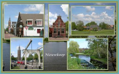 Nieuwkoop, collage van dorpsgezichten (© Jan Dijkstra, Houten)