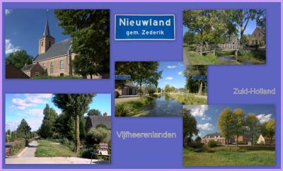 Nieuwland, collage van dorpsgezichten (© Jan Dijkstra, Houten)