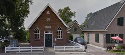 Nijetrijne, het kerkje van de Evangelische Gemeente Maranatha.