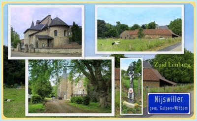 Nijswiller, collage van dorpsgezichten (© Jan Dijkstra, Houten)