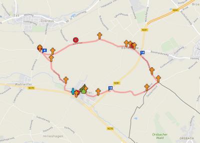Wegkruisen zijn vaak ware kunstwerkjes. Vooral in Zuid-Limburg staan ze bijna op iedere straathoek, bij wijze van spreken. Wandelroute Kruistocht nr. 19 van Veldkruus door Nijswiller en Baneheide e.o. is een mooie route om er onderweg veel tegen te komen.