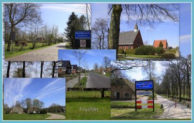 Noardburgum, collage van dorpsgezichten (© Jan Dijkstra, Houten)