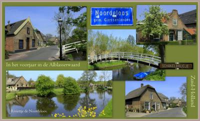 Noordeloos, collage van dorpsgezichten (© Jan Dijkstra, Houten)