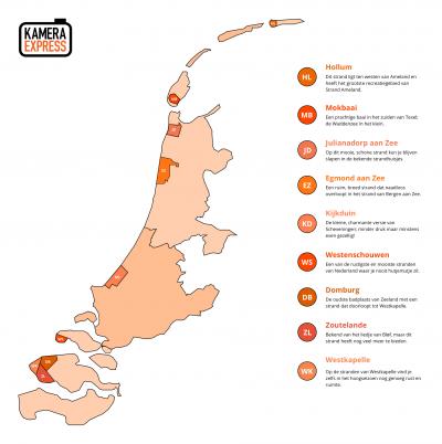 Kamera Express heeft uitgezocht wat volgens hen de 9 mooiste stranden langs de Noordzee en Waddenzee zijn om te fotograferen. Toelichting op deze 9 stranden, met handige tips voor fotografen, vind je op https://www.kamera-express.nl/stranden-fotograferen.