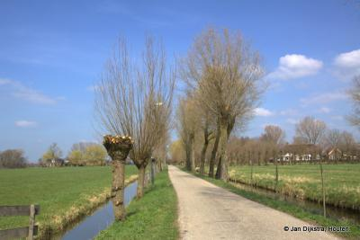 De Ockhuizerweg vanuit het dorpje Haarzuilens naar het N is maar smal, hij gaat dan ook maar naar een kleine, maar mooie buurtschap: Ockhuizen