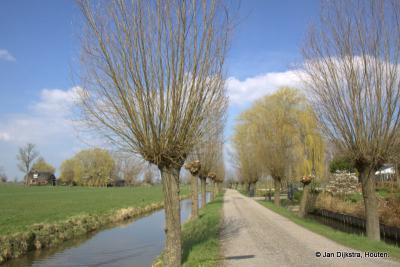 De lange smalle Themaatsekade loopt vanuit de kern van buurtschap Ockhuizen naar Gemaal Haarrijn, de plaats waar eens een molen heeft gestaan