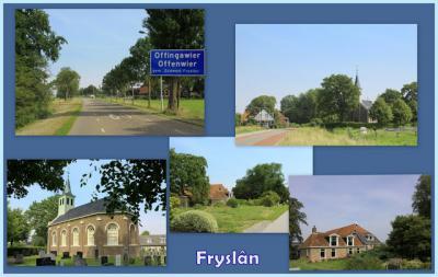 Offingawier, collage van dorpsgezichten (© Jan Dijkstra, Houten)