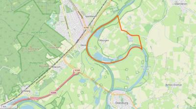 Olburgen ligt ZW van Steenderen, O van Dieren, N van Dosburg. (© www.openstreetmap.org)