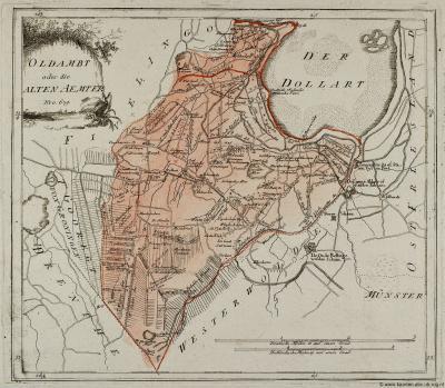 Kaart van het Oldambt anno 1791
