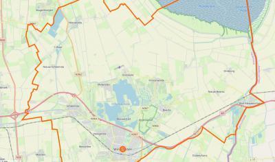 Kaart van de in 2010 opgerichte gemeente Oldambt. (© www.openstreetmap.org)