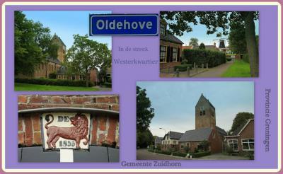 Oldehove, collage van dorpsgezichten (© Jan Dijkstra, Houten)